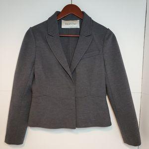 Valentino cropped blazer jacket grey size 8
